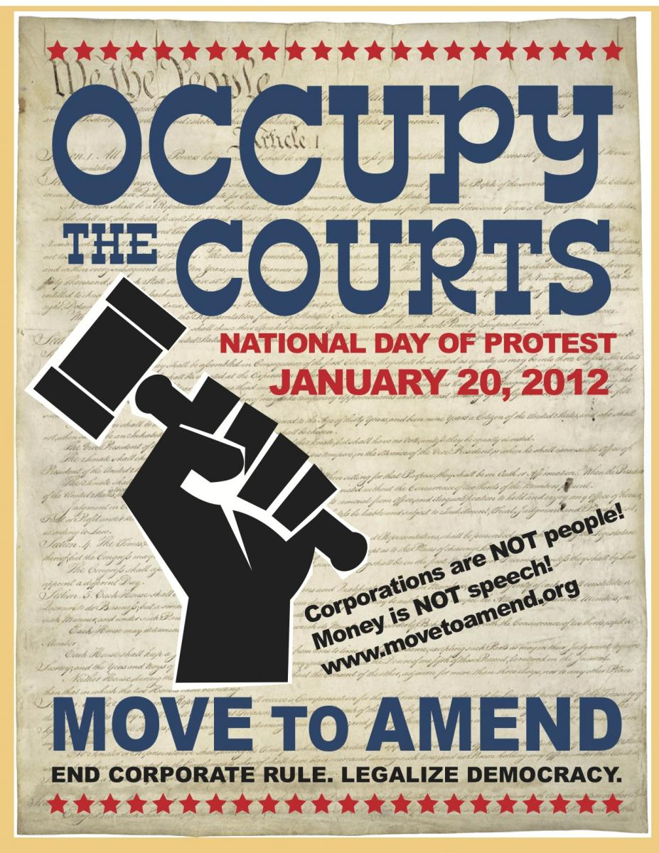 Jan 20, 2012: Occupy the Courts!